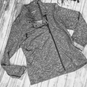EUC Ruff Hewn Soft Knit Moto Heather Grey Jacket